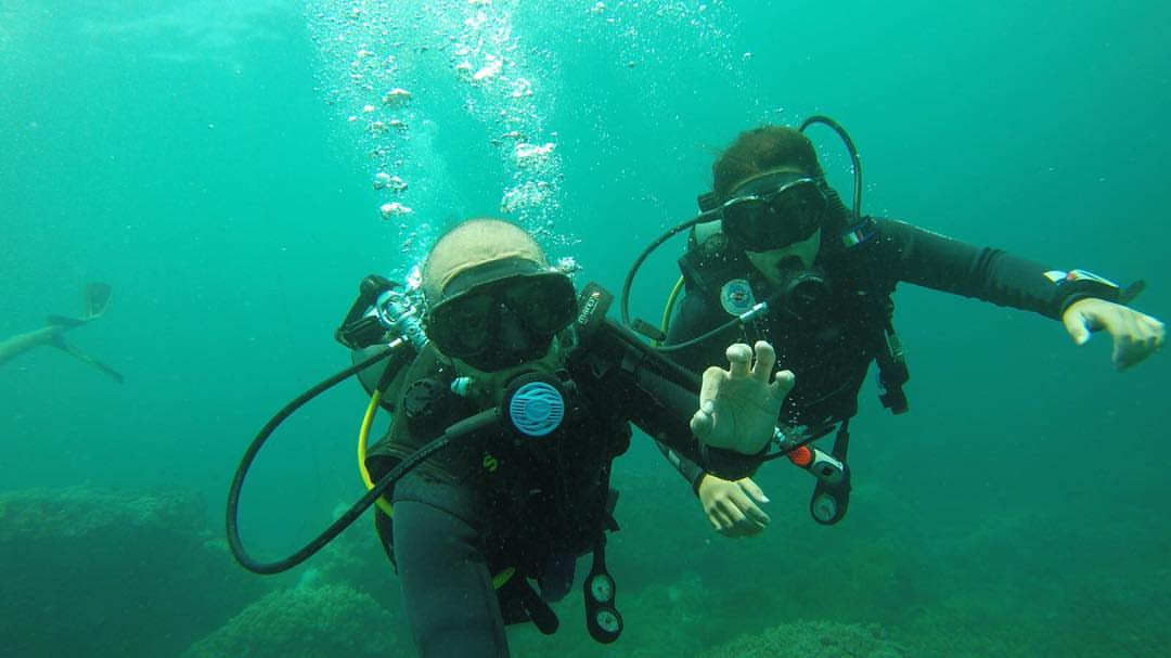 Scuba diving in Cham Island